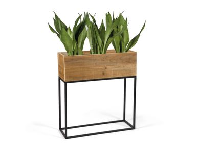 Decorative objects - Recycled wood planter 55x21x60.5 cm AX21017 - ANDREA HOUSE