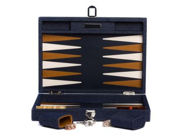Leather goods - Backgammon medium I Denim Canvas - HECTOR SAXE PARIS DEPUIS 1978