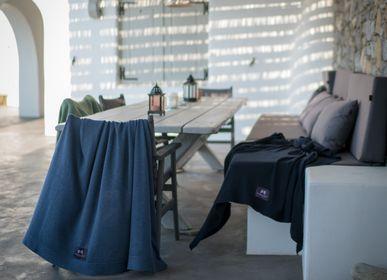 Throw blankets - Blanket Merino Wool Extrfine DYE BLUE - LA MAISON DE LA MAILLE
