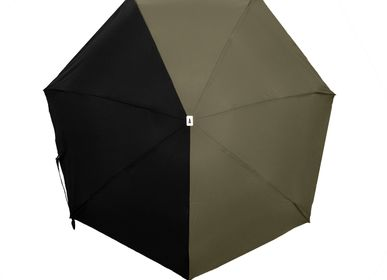 Apparel - Bicolour micro-umbrella - khaki & black - ALMA - ANATOLE