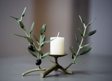 Unique pieces - Candle holder 1 candle 3 twigs - L'OLIVIER FORGÉ