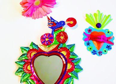 Sculptures, statuettes et miniatures - Miroir mural décoratif Bloom Colibrì Brillant - PINK PAMPAS