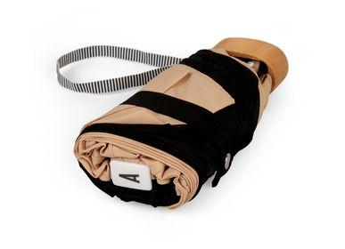Prêt-à-porter - Micro-parapluie bicolore Beige & Noir - ALICE - ANATOLE