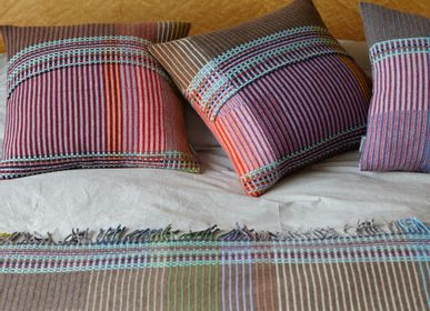 Fabric cushions - Pinstripe Cushion Rosalind - WALLACE SEWELL