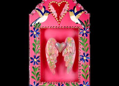 Decorative objects - Decorative Hummingbird Freedom Niche XL - PINK PAMPAS