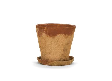 Pottery - Rustic cement flower pot Ø24.5x23.5 cm AX21080 - ANDREA HOUSE