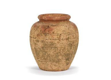 Vases - Rustic cement vase Ø26x28.5 cm AX21081 - ANDREA HOUSE