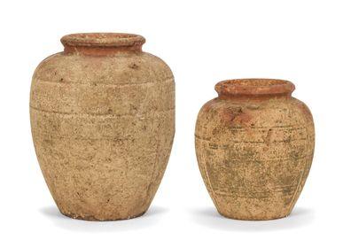 Vases - Vase rustique en ciment Ø31x37,5 cm AX21082 - ANDREA HOUSE