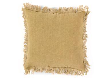 Cushions - Mahé khaki  linen cushion 45x45 cm AX21084 - ANDREA HOUSE