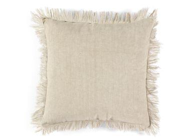 Cushions - Mahé light grey linen cushion 45x45 cm AX21085 - ANDREA HOUSE
