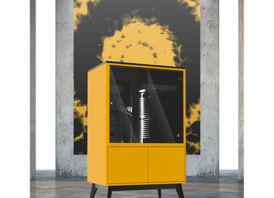Speakers and radios - Orpheau Jukebox | Mimosa Series | Yellow - ATELIER ORPHEAU