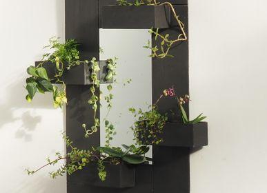 Miroirs - Miroir en ardoise 4 jardinières - LE TRÈFLE BLEU