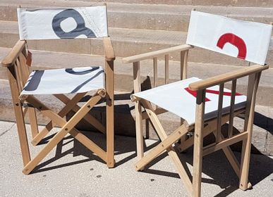 Lawn armchairs - Director's armchair and butterfly armchair - LES TOILES DU LARGE