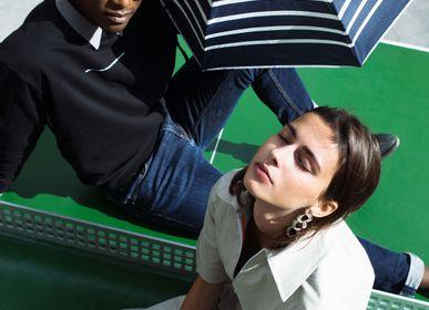 Apparel - Striped micro-umbrella - White stripes - PABLO - ANATOLE