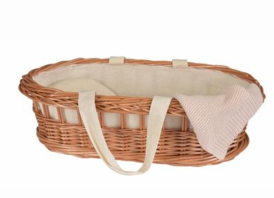 Toys - 700217 - WICKER CARRY COT - EGMONT TOYS