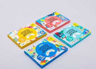 Loisirs créatifspour enfant - ASSORTIMENT DE 20 STICKERS DECOR POCKET + 1 DISPLAY - OMY