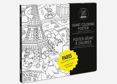 Loisirs créatifspour enfant - POSTER A COLORIER - PARIS - OMY