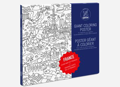 Stationery - COLORING POSTER - FRANCE  - OMY