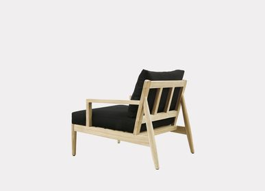 Lawn sofas   - AUSTIN LOUNGE CHAIR WITH ARMS - XVL HOME COLLECTION