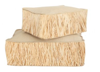 Deck chairs - floor cushion raffia effect  - MX HOME