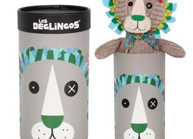 Objets de décoration - Peluche grand Simply en boîte Jélékros le Lion - LES DEGLINGOS