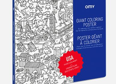 Papeterie - POSTER A COLORIER - USA - OMY