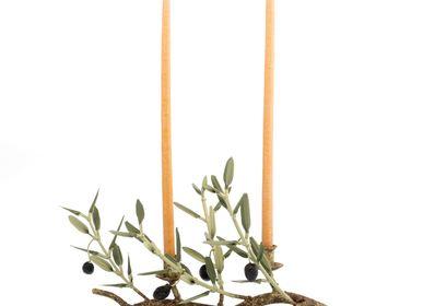 Pièces uniques - Bougeoir 2 bougies longues 4 rameaux Collection AVIGNON  - L'OLIVIER FORGÉ