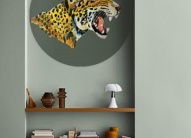 Autres décorations murales - Papier peint cercle tigre - CATCHII