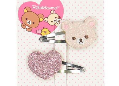 Hair accessories - Kroilakkuma / Heart hairclips - LUCIOLE ET PETIT POIS