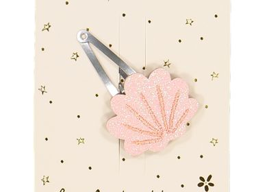 Hair accessories - Shell hairclip - Pink - LUCIOLE ET PETIT POIS