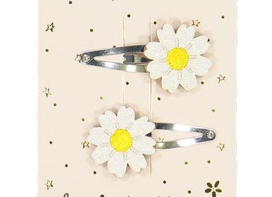 Hair accessories - Daisies - hairclips - LUCIOLE ET PETIT POIS
