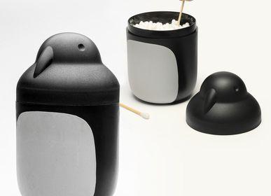 Range-tout - Récipient de pingouin: collection Ocean Bathroom Collection Matériaux écologiques - QUALY DESIGN OFFICIAL