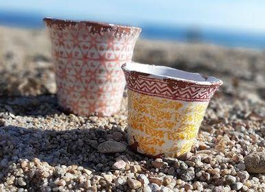 Accessoires de déco extérieure - Bougies en céramique collection Citronela - WAX DESIGN - BARCELONA