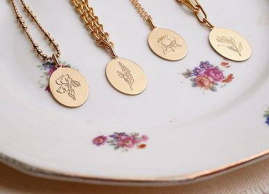 Jewelry - Medal herbarium necklaces - JOUR DE MISTRAL