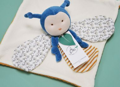 Soft toy - POLLEN THE ORGANIC BEE - COMFORTER - 25 cm - DOUDOU ET COMPAGNIE