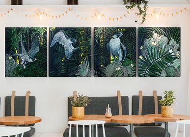Autres décorations murales - PEINTURE - Oasis - 65 x 54 x 4 cm - Acrylique sur toile - Maison Fétiche - MAISON FÉTICHE