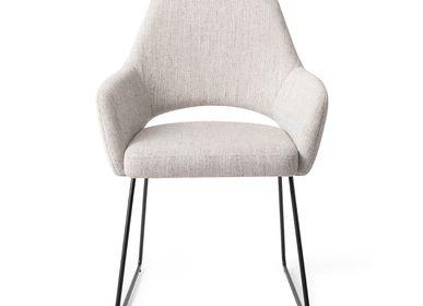 Chairs - Yanai Dining Chair - Pigeon, Slide Black - JESPER HOME