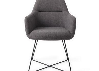 Chairs - Kinko Dining Chair - Shadow, Cross Black - JESPER HOME