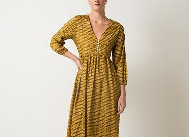 Prêt-à-porter - VALENCIA - Robe longue,féminine et contemporaine - ROSHANARA PARIS