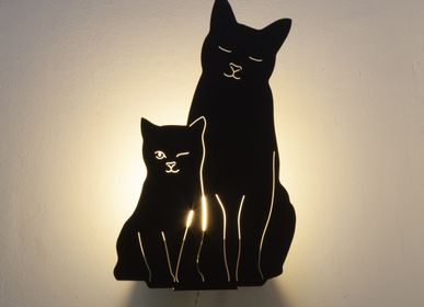 Chambres d'hôtels - The Kitties Lamp (Black) - GOODNIGHT LIGHT