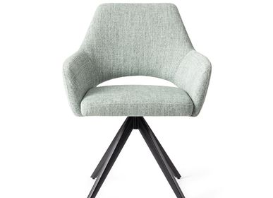 Chairs - Yanai Dining Chair - Soft Sage, Turn Black - JESPER HOME