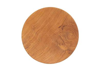 Assiettes au quotidien - Plates Made From Reclaimed Teak Wood - ORIGINALHOME