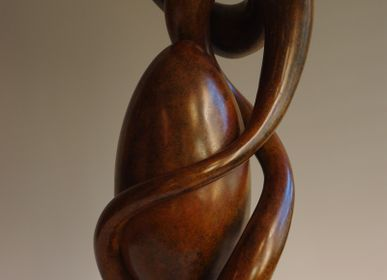 "Sculptures, statuettes et miniatures - ""Cocobolo"" Sculpture - JEAN CHRISTOPHE COURADIN"