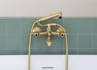 Faucets - Pile&Face | Wall-mounted bath and shower mixer with flexible, handshower and separate support - RVB