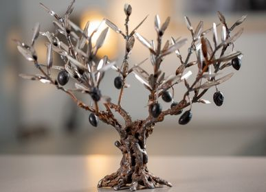 Decorative objects - olive tree in raw metal - L'OLIVIER FORGÉ