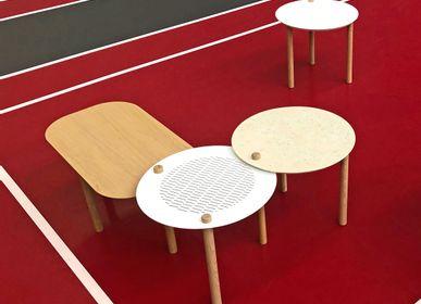 """Tables basses - PETITE TABLE BASSE ET DUO DE PLATEAUX by Nestor - Edition """"Volants recyclés"""" - DIZY"""