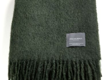Throw blankets - 4035 Stackelbergs Mohair Blanket Moss - STACKELBERGS