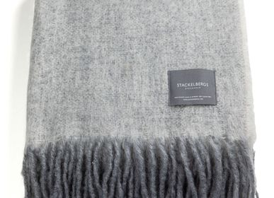 Throw blankets - 4042 Stackelbergs Mohair Blanket White & Skiffer Melange - STACKELBERGS