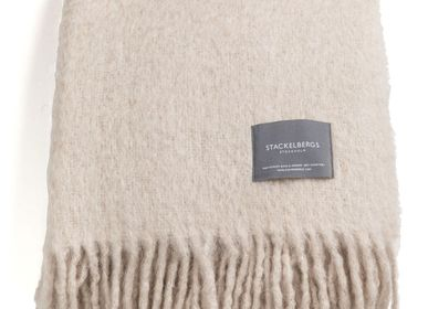 Throw blankets - 4071 Stackelbergs Mohair Blanket Portabello - STACKELBERGS
