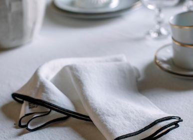 Linge de table textile - Serviette de table - Linge pur lavé - L'heure du thé - LO DE MANUELA